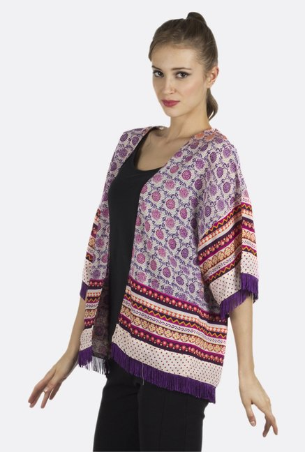 Fusion Beats Multicolor Printed Shrug