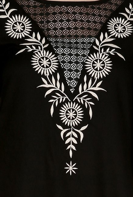 Fusion Beats Black Printed Tunic