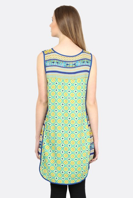 Fusion Beats Lime Printed Tunic