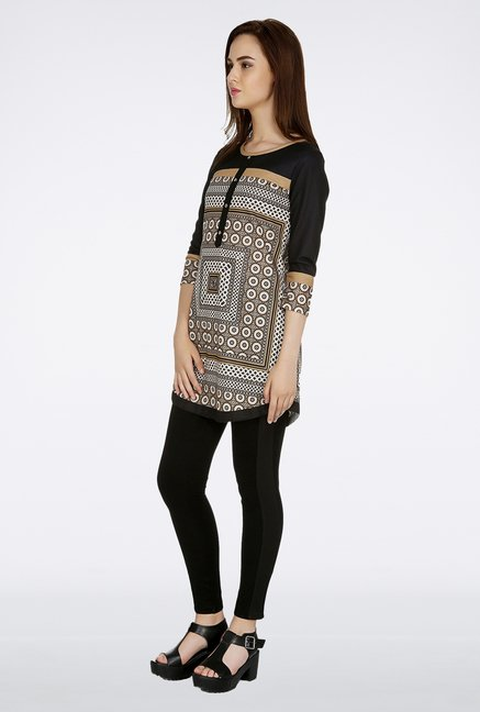 Fusion Beats White Printed Tunic
