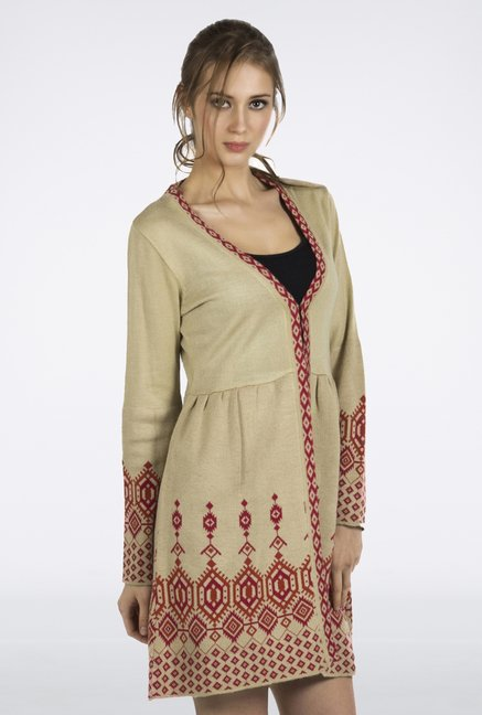 Fusion Beats Beige Printed Tunic