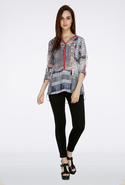 Fusion Beats Multicolor Printed Top