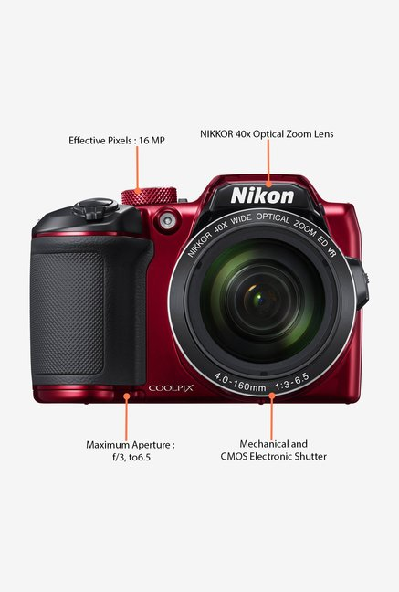 Nikon Coolpix B500 Point & Shoot Camera (Red)