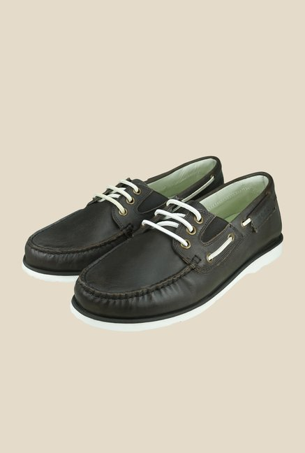 US Polo Assn. Dark Brown Boat Shoes