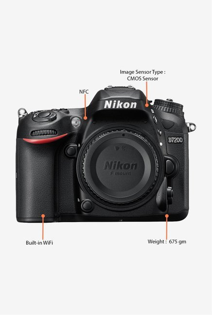 Nikon D7200 DSLR Camera (Body Only) Black