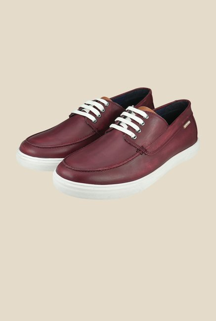 US Polo Assn. Burgundy Casual Shoes