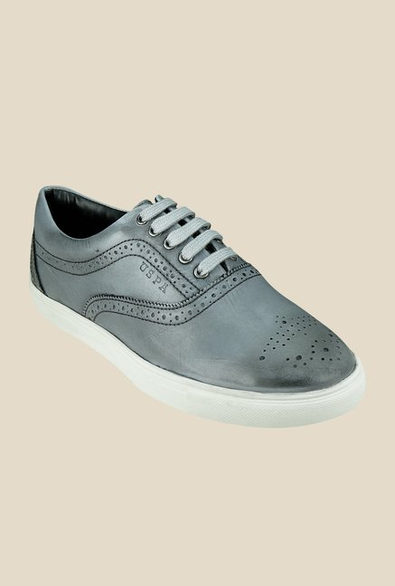 US Polo Assn. Dark Grey Brogue Shoes