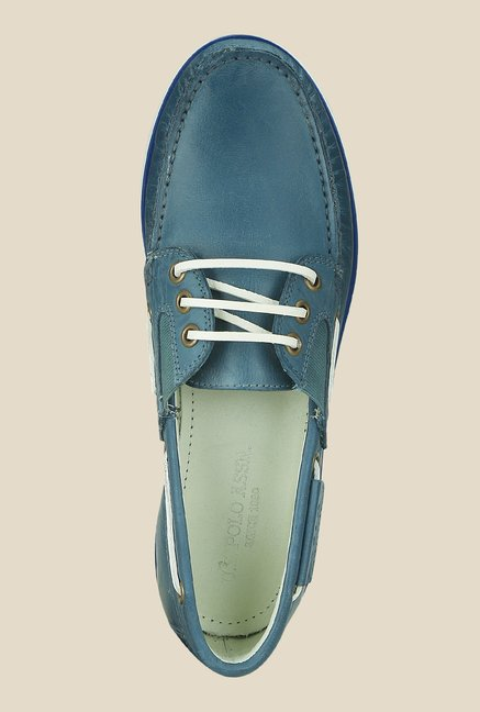 US Polo Assn. Teal Blue Boat Shoes