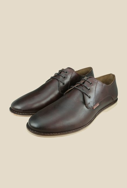 US Polo Assn. Brown Leather Derby Shoes