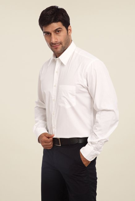 ColorPlus White Solid Shirt