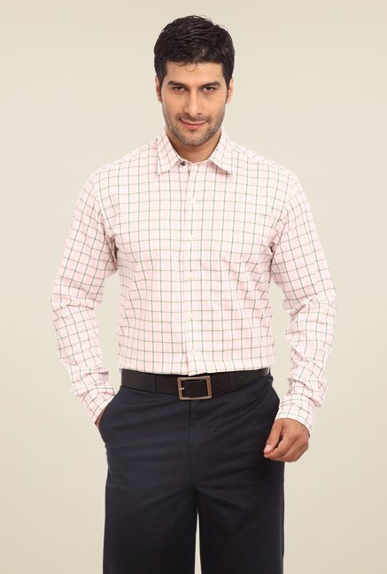 ColorPlus Light Pink Checks Shirt