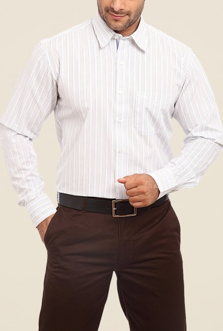 ColorPlus White Striped Shirt