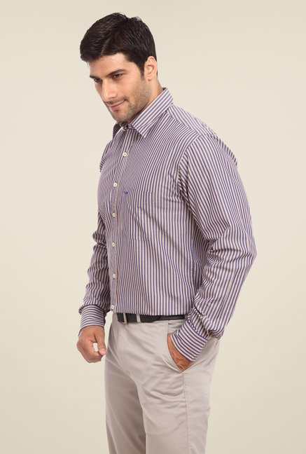 ColorPlus Blue Striped Shirt