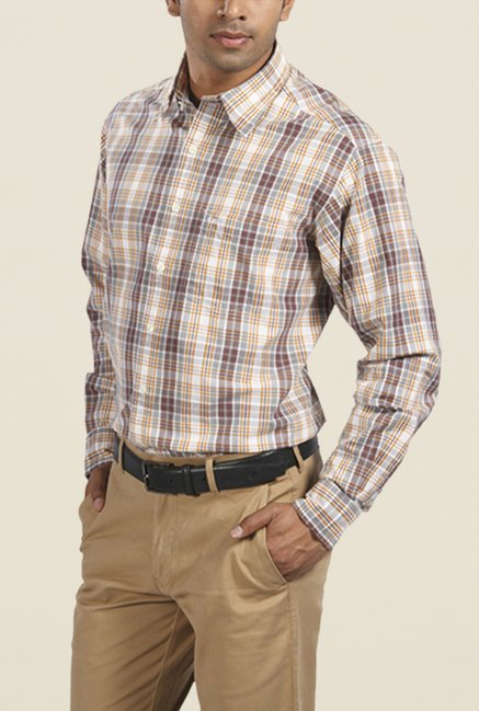 ColorPlus Brown Checks Shirt