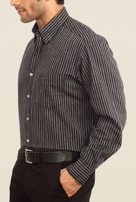 ColorPlus Grey Striped Shirt