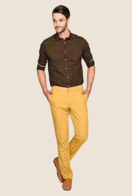 ColorPlus Khaki Solid Chinos