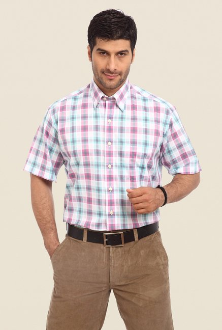 ColorPlus Violet Checks Shirt