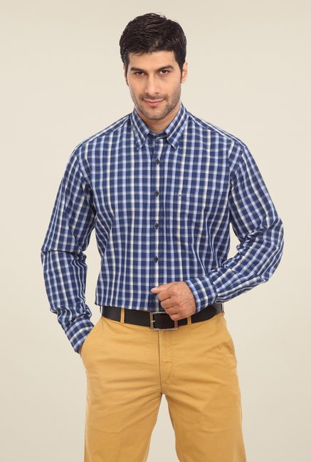 ColorPlus Blue Checks Shirt