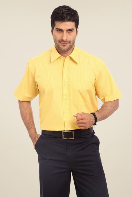 ColorPlus Yellow Striped Shirt