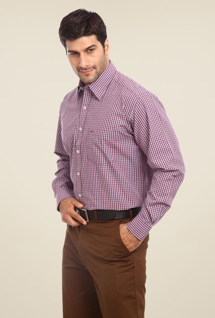 ColorPlus Maroon Checks Shirt