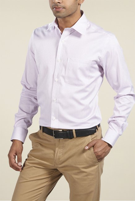 Park Avenue Violet Pin Striped Cotton Shirt