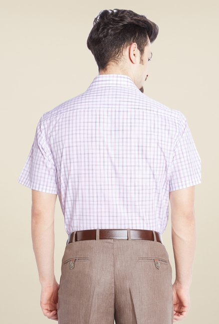 Park Avenue Purple Checks Cotton Shirt