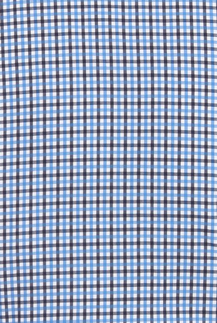 Park Avenue Blue Checks Cotton Shirt