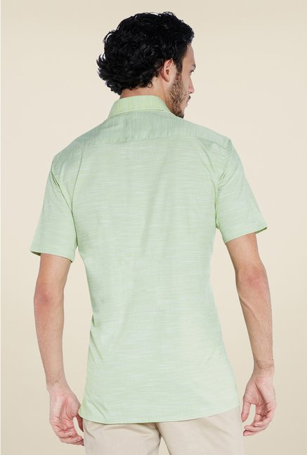 Park Avenue Green Cotton Shirt
