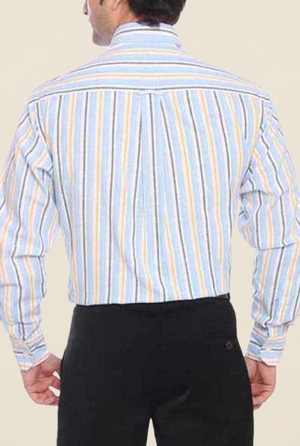 ColorPlus Light Blue Striped Shirt