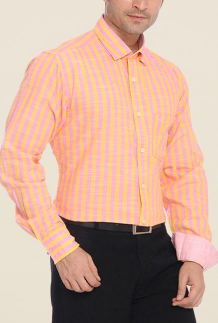 ColorPlus Orange Striped Shirt