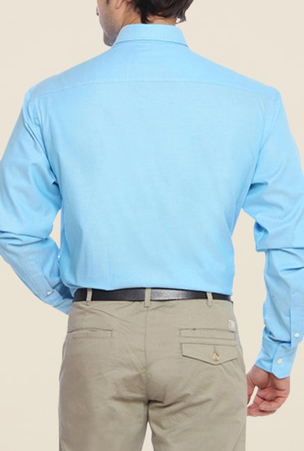 ColorPlus Blue Solid Shirt