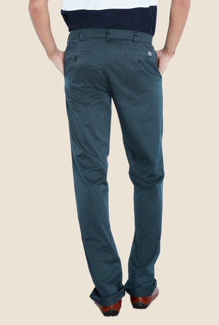 ColorPlus Green Solid Chinos
