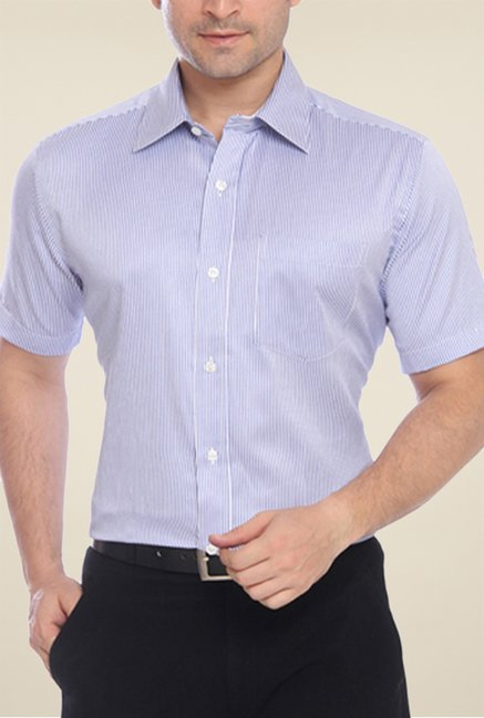 Park Avenue Blue Checks Shirt