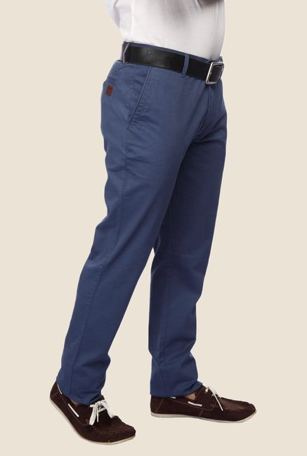 ColorPlus Blue Solid Chinos