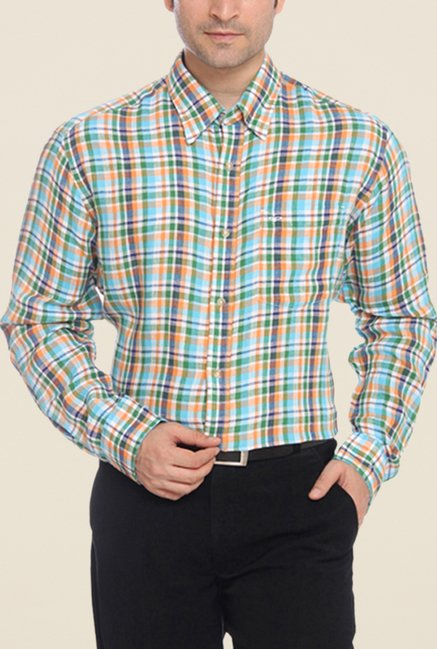 ColorPlus Multicolor Checks Linen Shirt