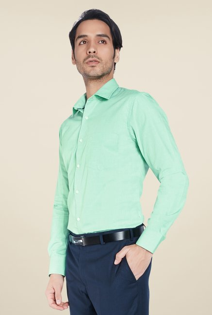 ColorPlus Green Solid Shirt