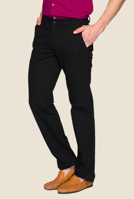 ColorPlus Black Solid Trouser