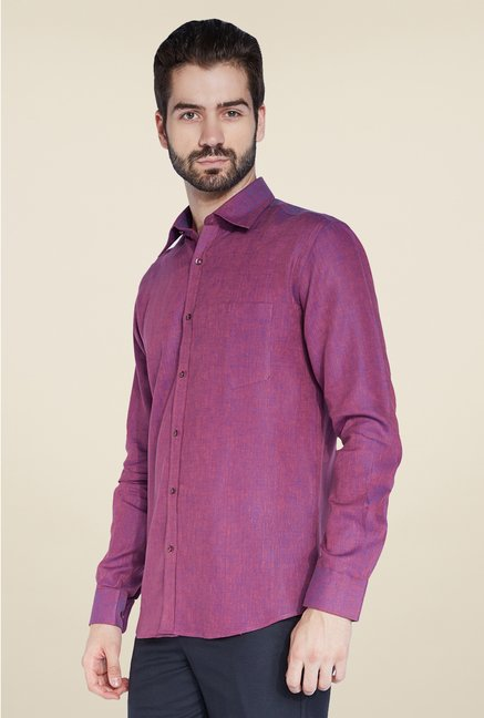 Park Avenue Purple Linen Shirt
