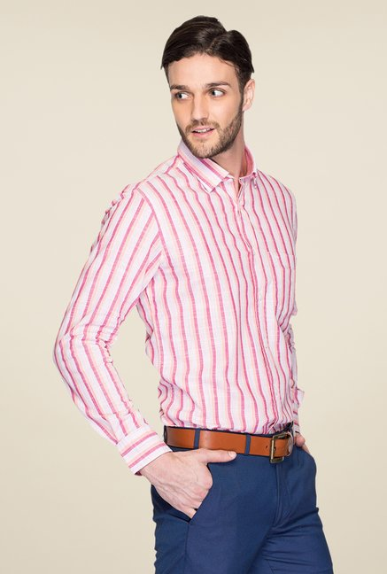 ColorPlus Pink Striped Shirt