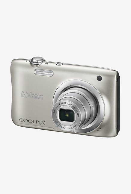 Nikon Coolpix A100 Point and Shoot Camera (Silver)