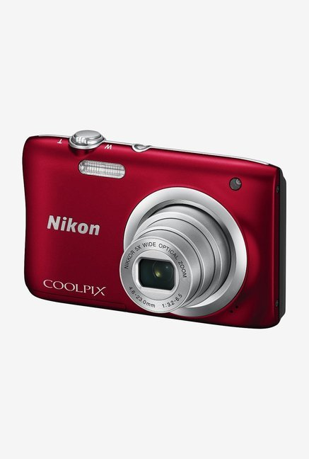 Nikon Coolpix A100 Point and Shoot Camera (Red)