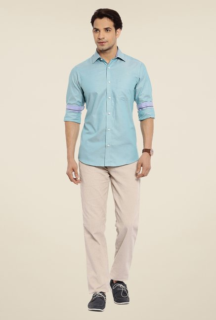 ColorPlus Turquoise Solid Shirt