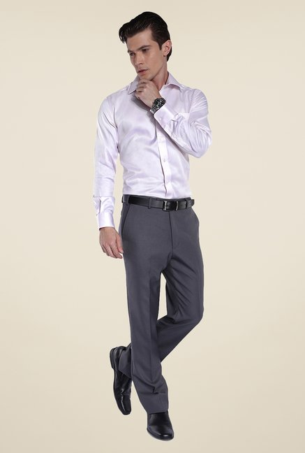 Park Avenue Light Pink Solid Cotton Shirt