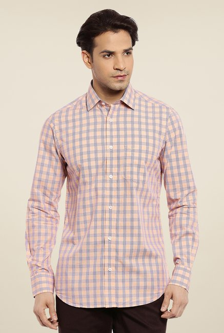 ColorPlus Beige Checks Shirt
