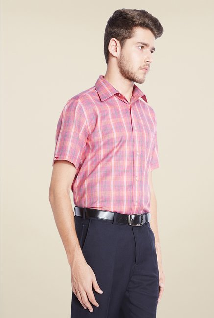 Park Avenue Pink Checks Shirt