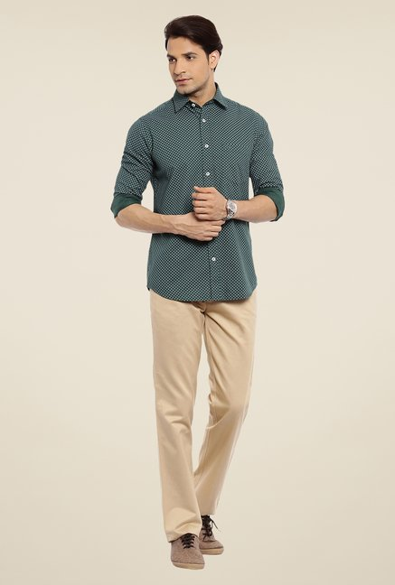 ColorPlus Dark Grey Printed Shirt