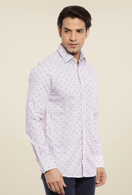 ColorPlus Violet Printed Shirt