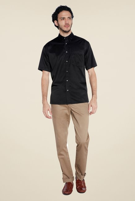 ColorPlus Black Solid Shirt