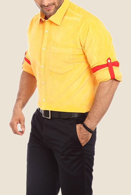 ColorPlus Yellow Solid Shirt
