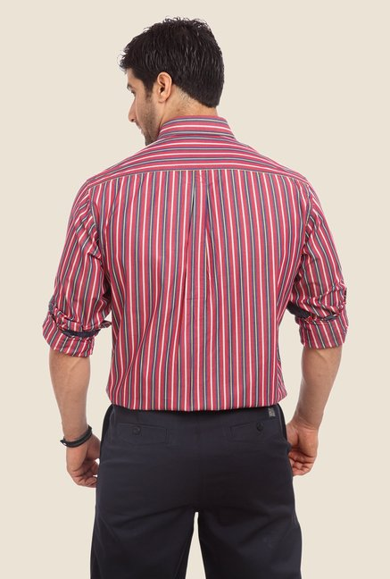 ColorPlus Red Striped Shirt